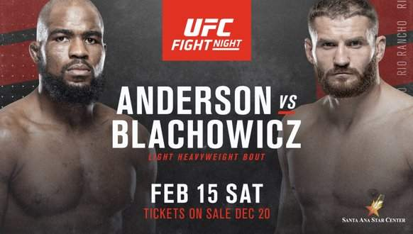 Corey Anderson vs Jan Blachowicz Predictions & Betting Odds - UFC Fight Night 167